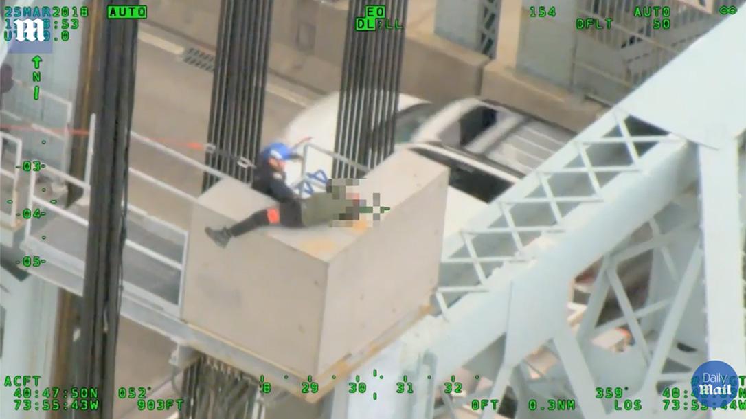 nypd officer suicidal man rfk bridge