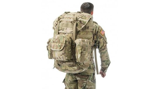 us army molle 4000 rucksack rear view