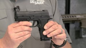Bismarck Police Department sig sauer p320 pistol left profile