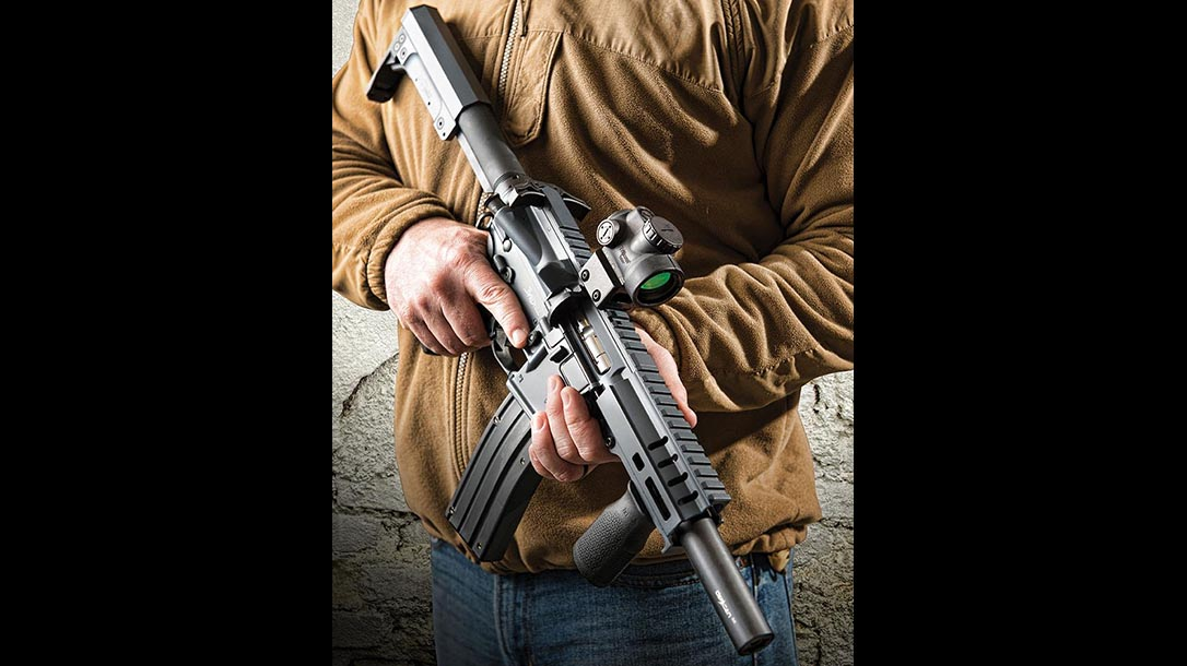 cmmg defcan suppressor ak rifle