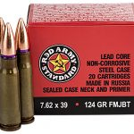 century arms red army standard AK ammunition bullets and box