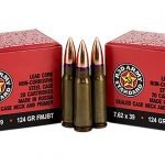 century arms red army standard AK ammunition bullets and two boxes