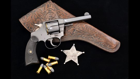 colt police positive revolver badge