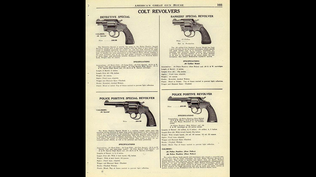 colt police positive revolver catalog development