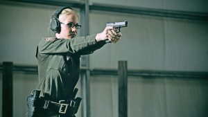 glock pistols female police officer