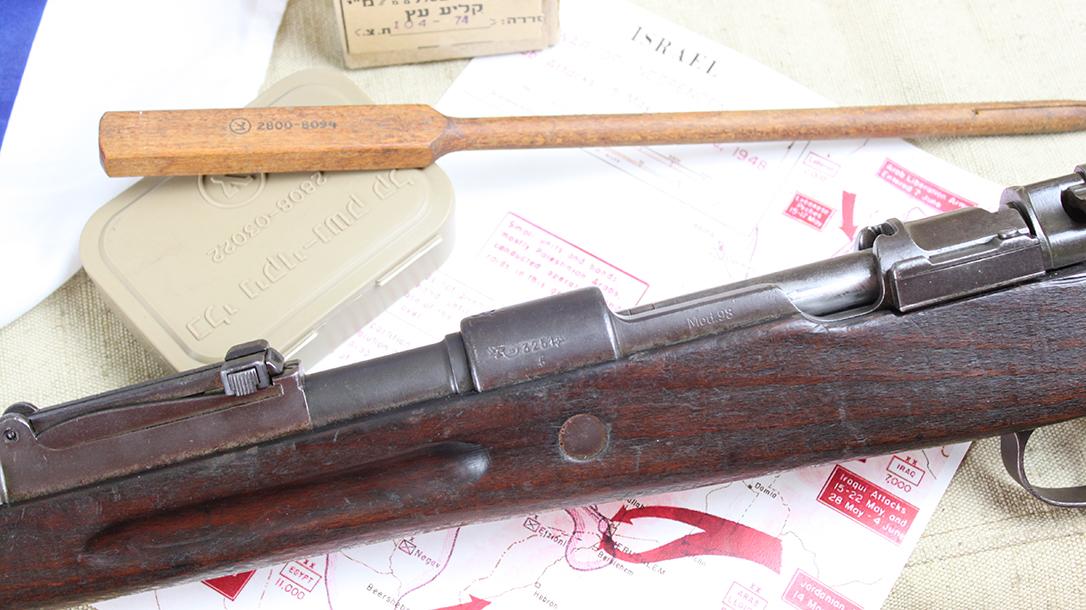 israeli k98 rifle receiver left angle