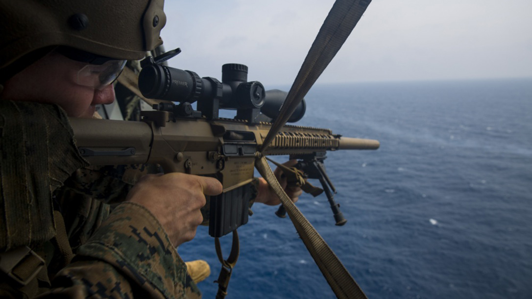 marines mk 13 mod 7 m40 sniper rifle aerial training
