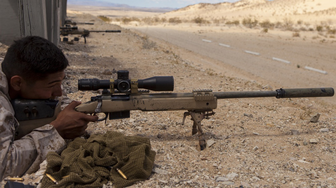 marines mk 13 mod 7 m40 sniper rifle ground training
