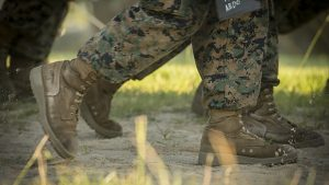 marine boots parris island testing