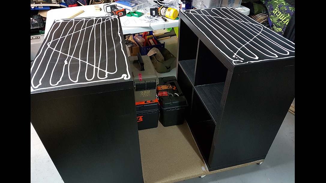 reloading bench shelves