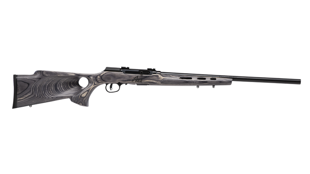 Savage A22 Target Thumbhole model rifle 110 wolverine right profile