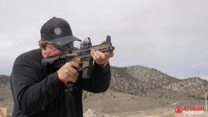 CMMG Banshee Pistol test range