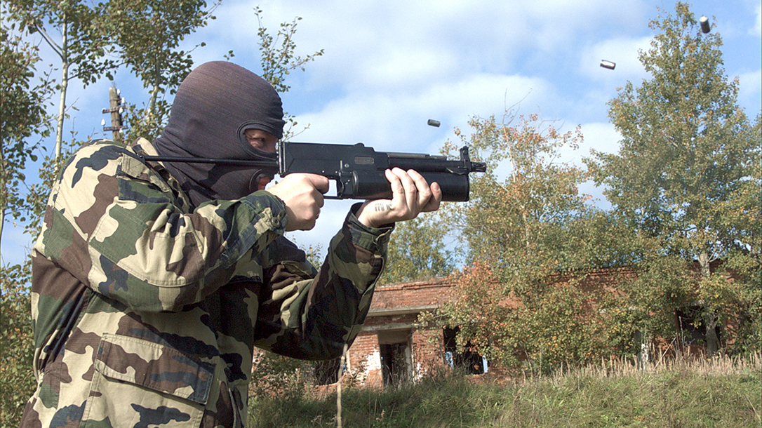 russian submachine guns firing