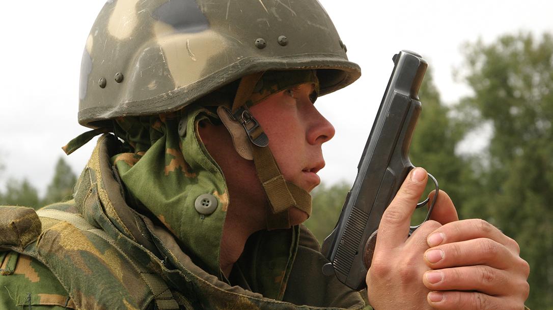 soviet pistols russian soldier