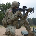 ARMY m4a1 carbine small arms range test