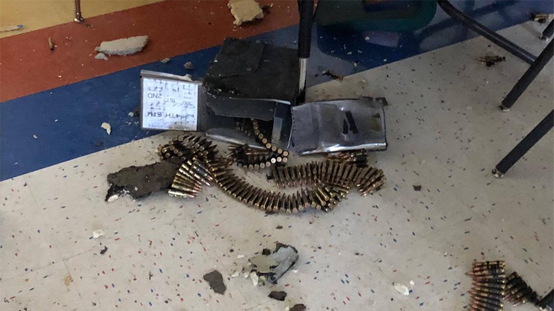black hawk helicopter ammo box school