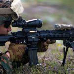 marines m27 iar rifle aiming