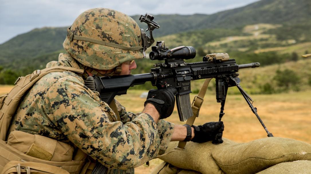 marines m27 iar rifle test