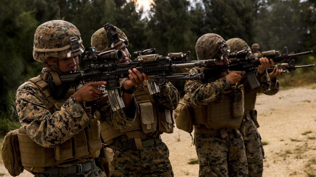 marines m27 iar rifle sight in