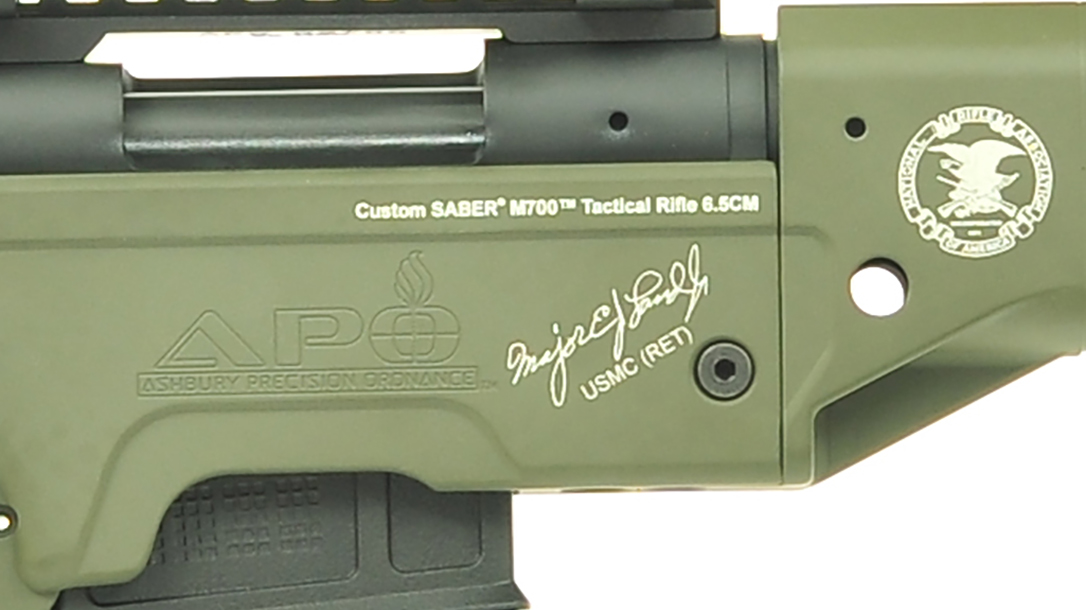 Ashbury Saber-M700 Maj. Edward James Land Tactical Rifle signature
