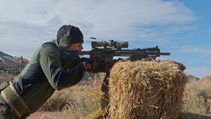 scoped carbine buck doyle hay bail shooting