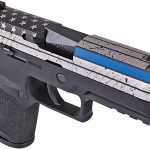 sig sauer thin blue line p320 pistol right angle