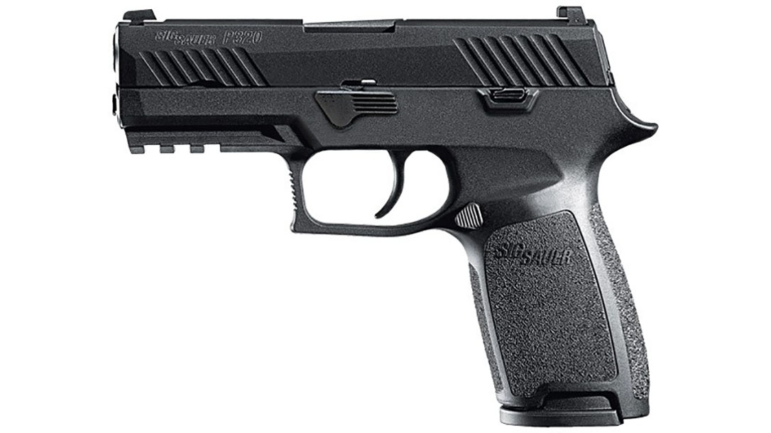 sig sauer thin blue line p320 pistol left profile