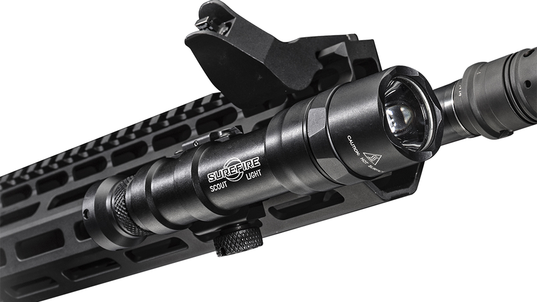 SureFire M600DF light attached rifle
