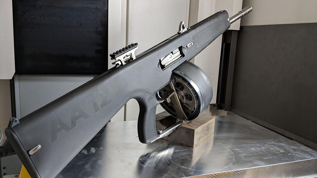 aa-12 shotgun rear angle