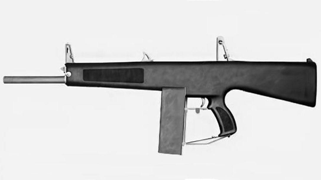aa-12 shotgun left profile