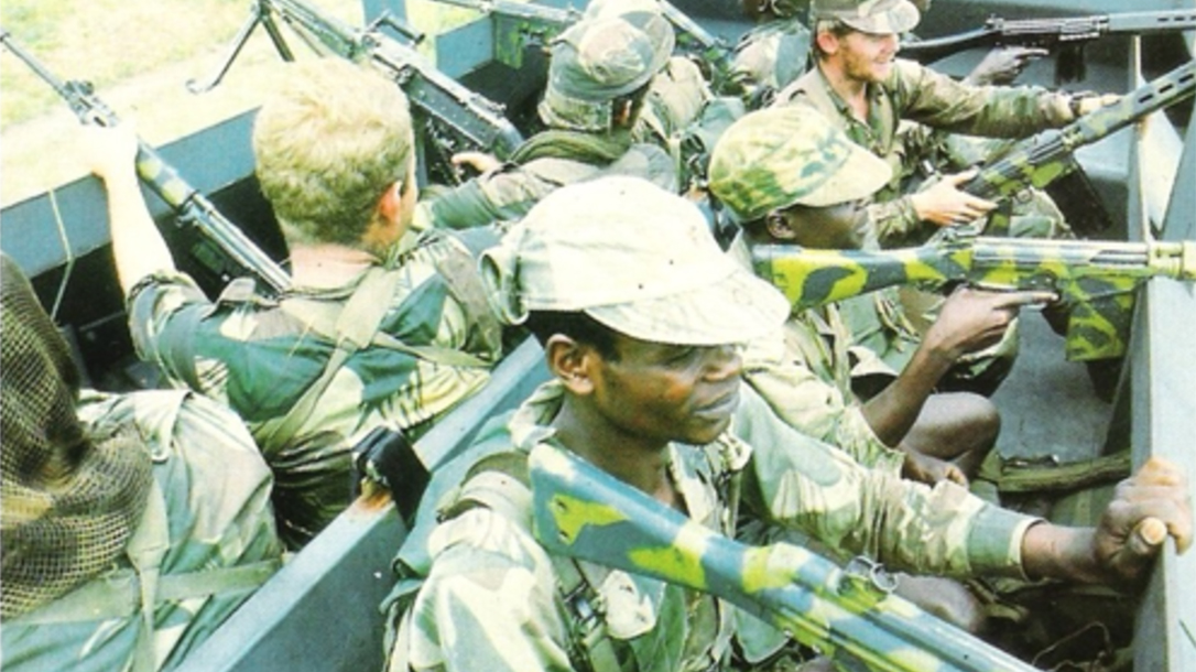 at armor rhodesian army camo rifles