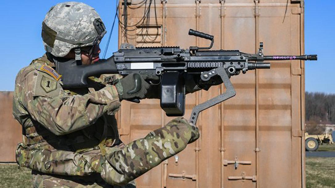 army third arm device m249 light machine gun