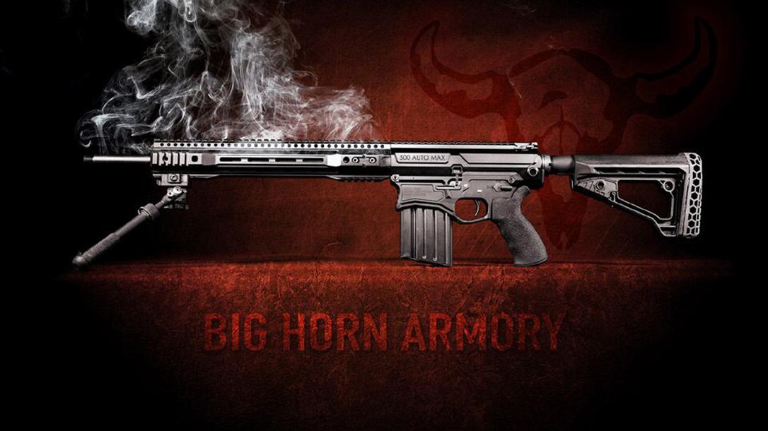 Big Horn Armory AR500 rifle smoking