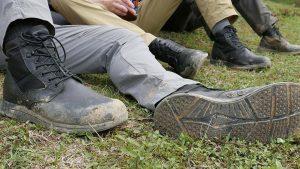 GoRuck MACV-1 boots mud