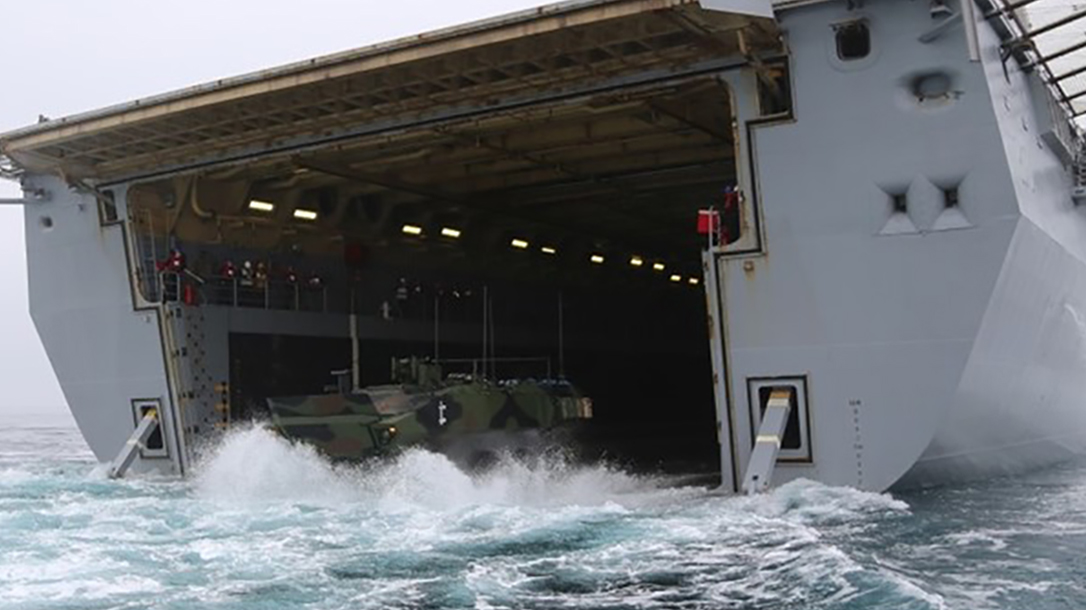 marines amphibious combat vehicle ship