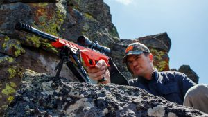 Nosler M48 NCH handgun orange rocks