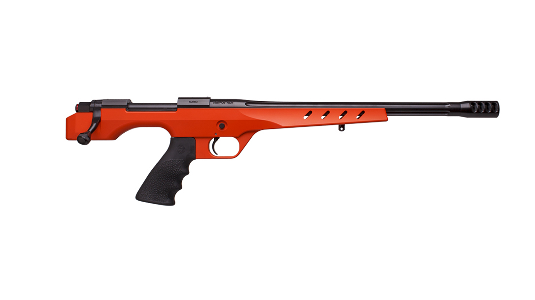 Nosler M48 NCH handgun orange right profile