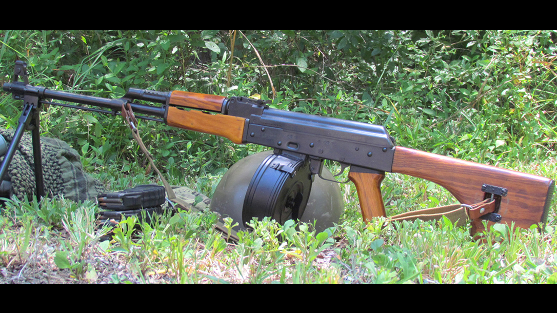 rpd rpk light machine gun left profile