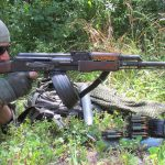 rpd rpk light machine gun right profile