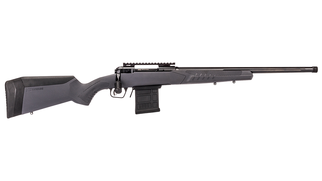 Savage Arms model 110 tactical rifle gray right profile