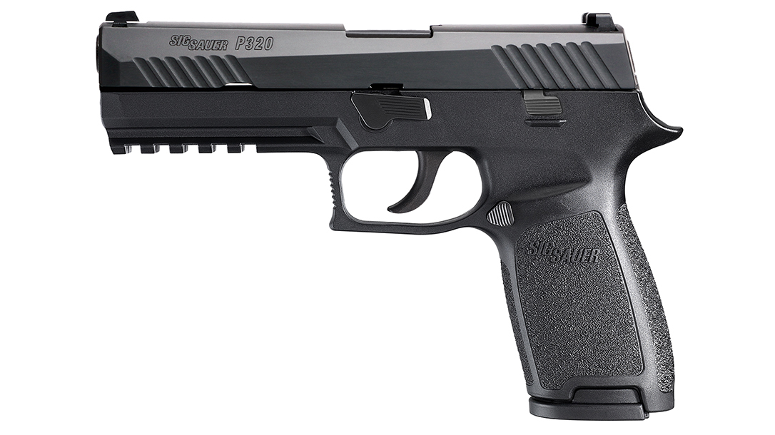 chicago police department sig p320 pistol left profile