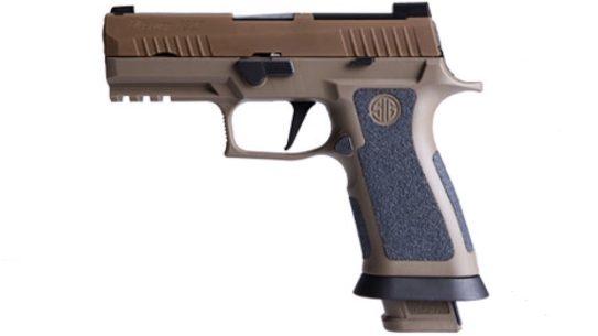 sig sauer p320 x-carry pistol denmark left profile