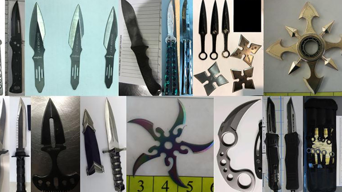 tsa airport guns edged weapons