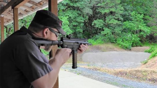 grand power stribog pistol carbine shooting test