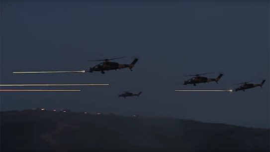 Turkish T129 ATAK helicopter, Tracer Rounds, Turkish army