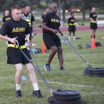 army combat fitness test sled pull