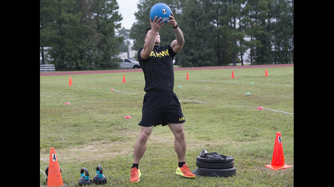 army combat fitness test standing throw