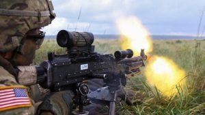 us army m240 machine gun closeup