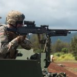 us army m240 machine gun right profile