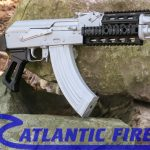atlantic firearms draco ak pistol bright silver right profile